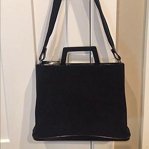 Authentic Salvatore Ferragamo velvet briefcase/bag